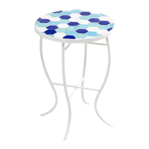 Blue Checker Mosaic Accent Table Mosaic Accent Table Accent