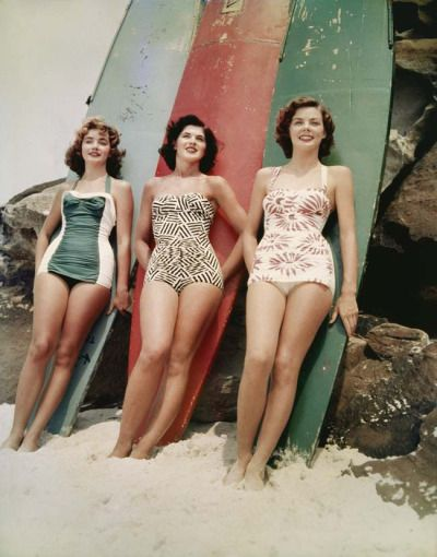 Recommend whattheywore, if you like <3 hummeline:  theniftyfifties: asunburntcountry:   'Miss Pacific' pageant winners, Bondi Beach 1952.