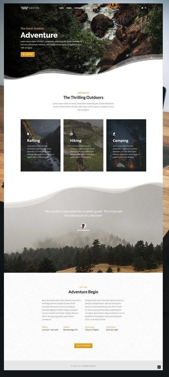 Weston Do It All Wordpress Theme Web Design Websites Website Design Layout Web Layout Design