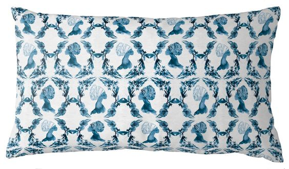 Lumbar Throw Pillow in Sisters, Rumble Reverse Edge Hollow, designed by AphroChic and featured on Guildery