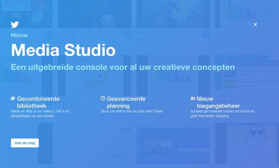 Twitter lanceert Media Studio! Dé plak voor al je getweette digitale media die…