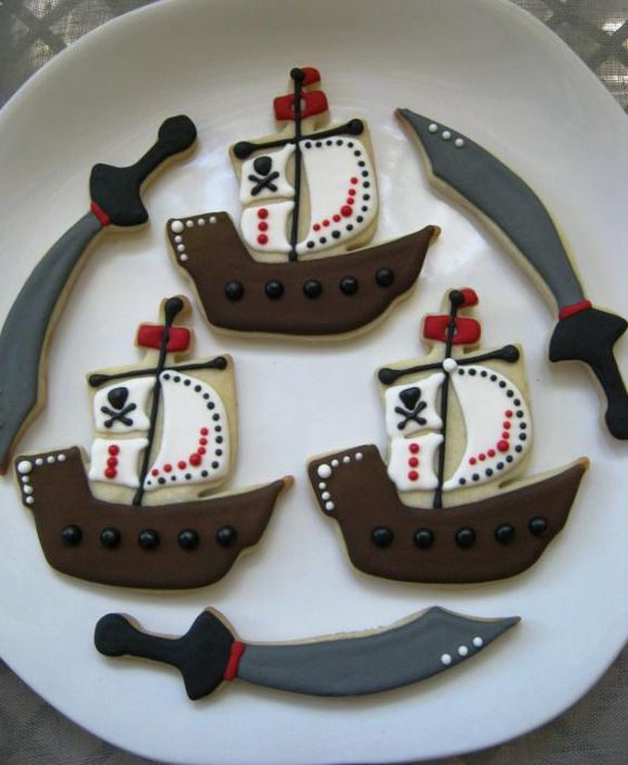 Pirate cookies.  Love these.  Don't think they would last long with my little boy around!