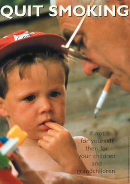 Quit Smoking. If not for yourself then for your children