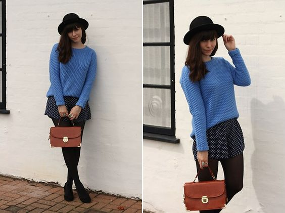 Get this look: http://lb.nu/look/2265827  More looks by Sarah B: http://lb.nu/hellosarah  Items in this look:  Chunky Blue Jumper, Polka Dot Shorts