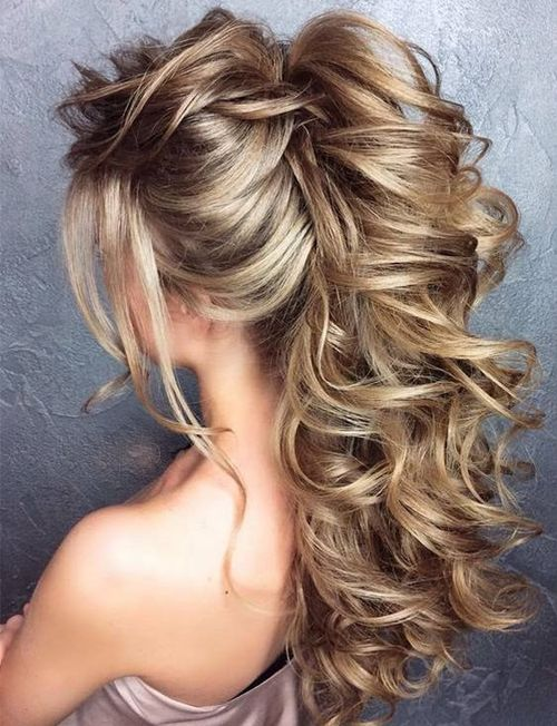 Super Fluffy Bridal Curly Updo Hairstyles 2018 Wedding Hairstyles For Long Hair Prom Hairstyles For Long Hair Hair Styles
