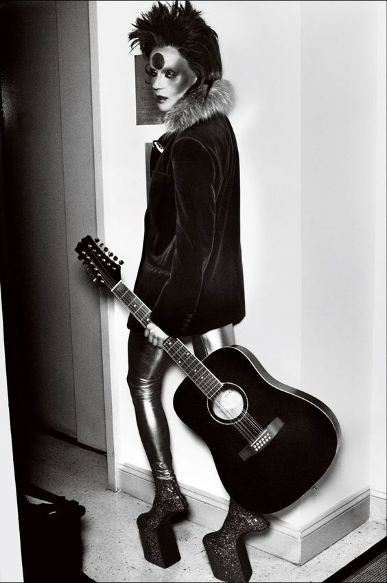 Daphne Guinness as David Bowie by Bryan Adams for Vogue Germany Jan 2012
