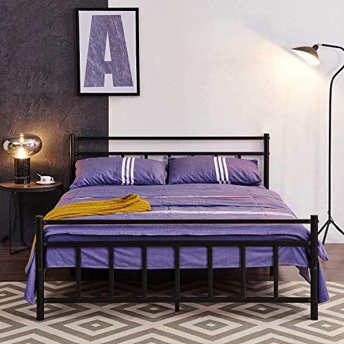 New Greenforest Bed Frame Queen Heavy Duty Slats Mattress