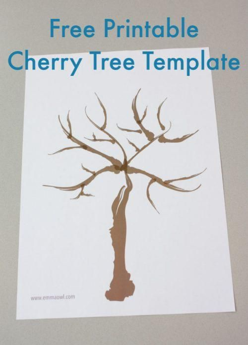 Free Printable Cherry Tree Template In 2021 Cherry Blossom Tree Japanese Cherry Tree Blossom Trees