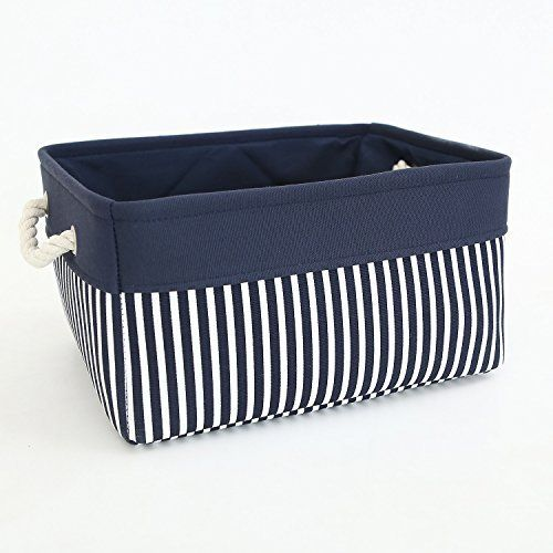 Tcafmac Small Basket Rectangular Fabric Storage Basket Canvas Storage Bins Gift Basket Empty Fabric Storage Baskets Canvas Toy Storage Canvas Storage