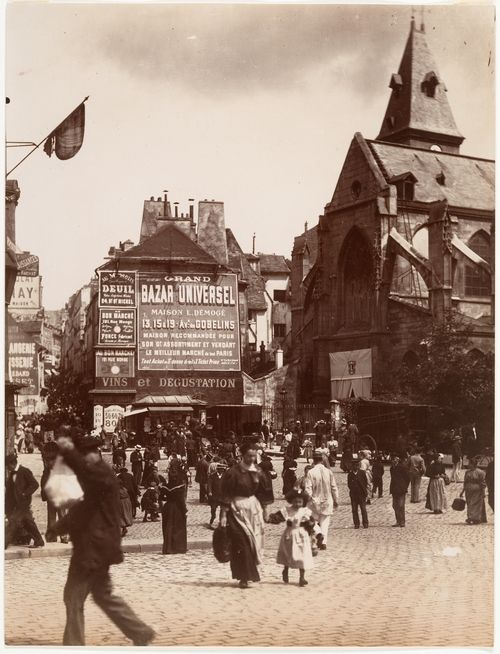 Rue Mouffetard, Paris by Eugène Atget, ca 1900