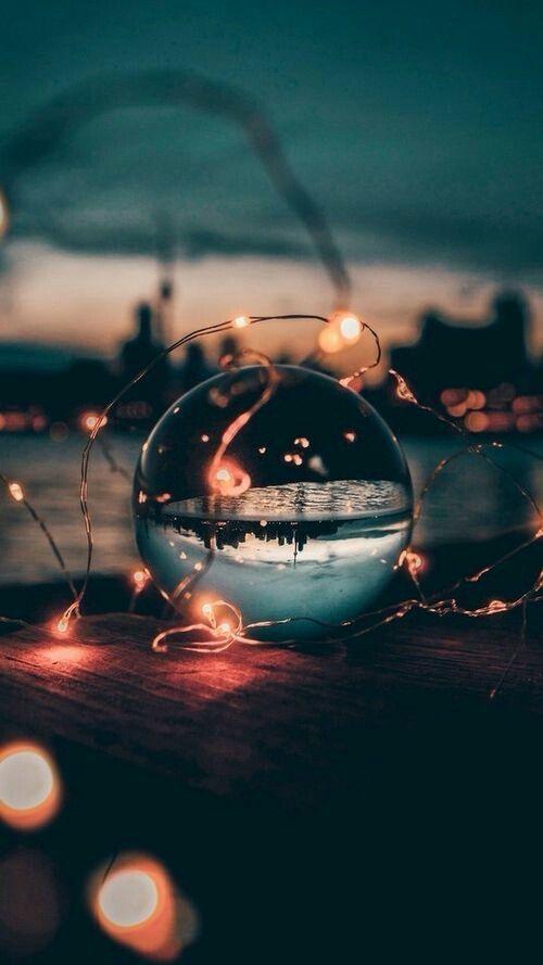 Light Ball Glass Ecrant Night Style Dreamy Good Summer Lights Fond Https Fairy Light Photography Photography Wallpaper Beautiful Nature Wallpaper