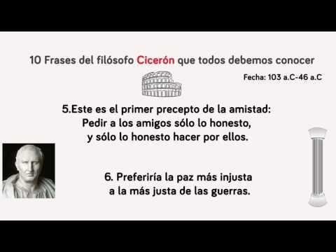 10 frases de Cicerón que todos debemos conocer - YouTube