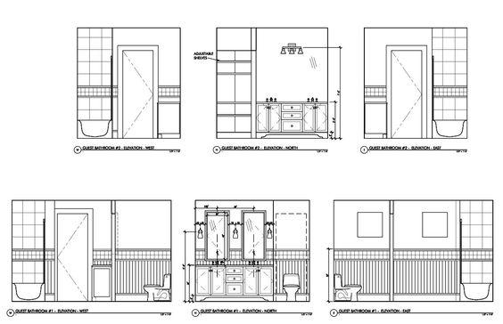Floor Elevation Technique : Bathroom elevation word designer pinterest