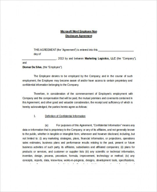 Free 10 Non Disclosure And Confidentiality Agreement Templates Social Work Confidentia In 2021 Non Disclosure Agreement Rental Agreement Templates Resume Template Word
