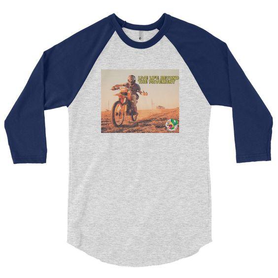 """""""Live life"""" 3/4 sleeve raglan shirt"""