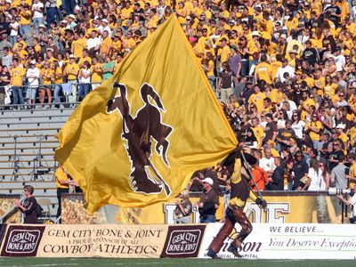Pistol Pete. University of Wyoming Football game
