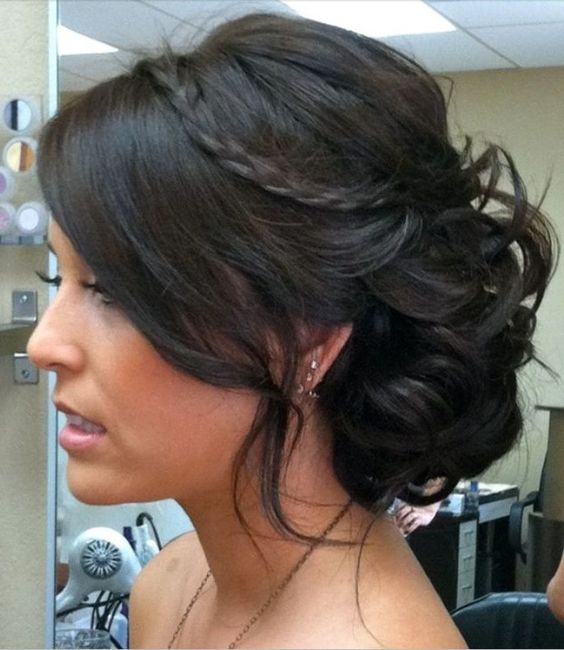 Swell Updo Hairstyles For Bridesmaids And Bangs On Pinterest Hairstyles For Women Draintrainus