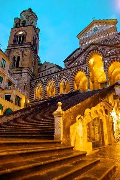 I remember going here. Oh Italy how I miss you......Amalfi Coast Basilica of San Andrea