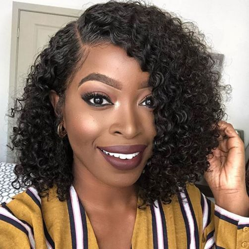 Eva Hair 150 Density 13x6 Lace Front Wigs Short Brazilian Curly Glueless Lace Front Human Hair Wigs Medium Curly Hair Styles Wig Hairstyles Curly Hair Styles