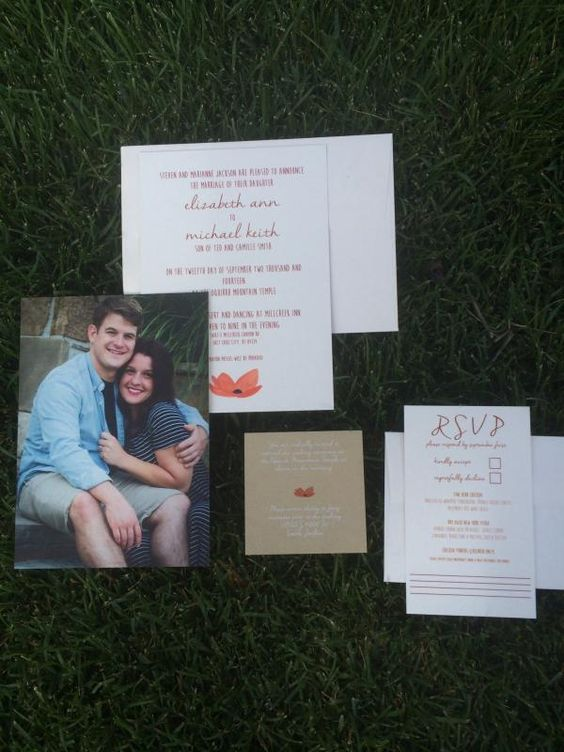 """I was so thrilled with the wedding invitations I ordered. I don't think I could have found a better place to print them. Not to mention the pricing was so inexpensive. I guarantee I will be coming back for more printing!"" Eajack88, South Jordan, UT"