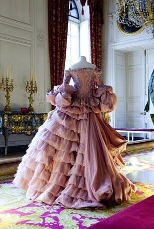 A Marie Antoinette period gown designed by Dior.: