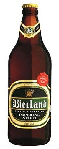 Cerveja Bierland Imperial Stout, estilo Russian Imperial Stout, produzida por Bierland, Brasil. 7% ABV de álcool.