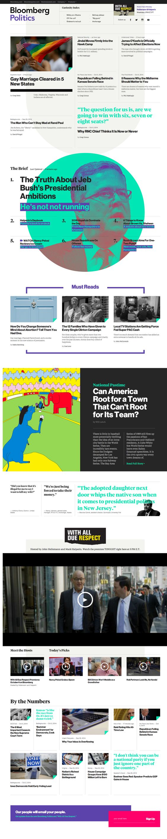 Bloomberg politics #grafica #web