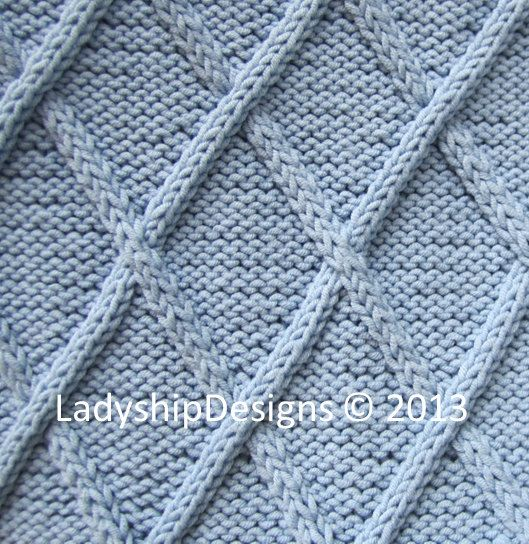 #TheIvy PDF Knitting Pattern Diamond Cable Baby by LadyshipDesigns