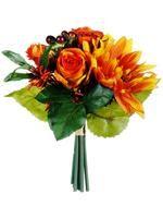 Flame Orange Rose Sunflower Wedding Bouquet 200.jpg