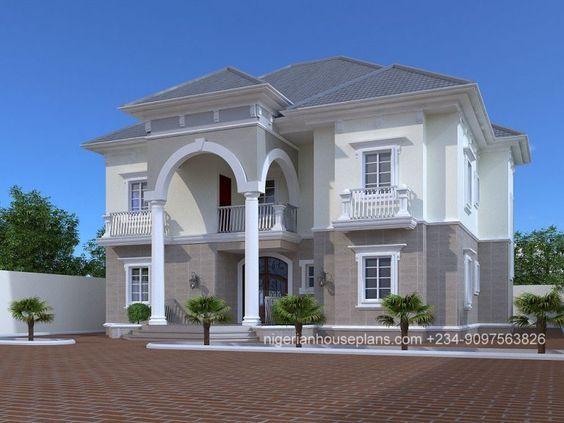 Nigeria House Plan Home Building Design 5 Bedroom Apartment Duplex House Design Duplex Design Home Building Design