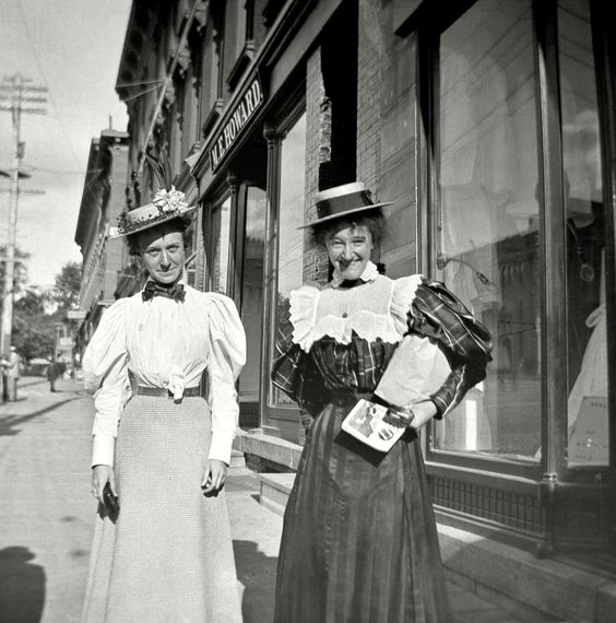 "Malone, New York, 1897, ""Mabel and Daisy on the street."" Shorpy Historic Picture Archive :: Mabel and Daisy: 1897 high-resolution photo"