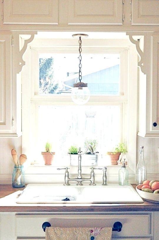 30 Kitchen Sink Lighting Ideas Pictures Inspirations With Images Kitchen Sink Lighting Cottage Kitchens Kitchen Window Treatments