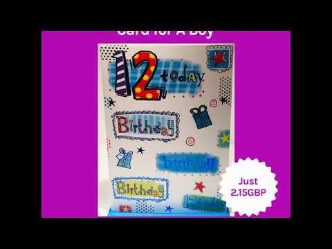 Happy 12th Birthday Card For A Boy Age 12 Birthday Card For Boys Features Age 12 Card Meas Happy 12th Birthday Birthday Cards For Boys Birthday Cards
