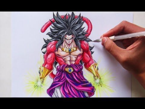 Como Dibujar A Broly Ssj4 How To Draw Broly Ssj4 Artiz Hd Youtube Broly Ssj4 Cómo Dibujar Cosas Faces De Goku