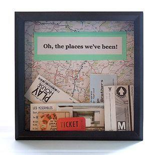 Una caja de recuerdos de viajes para todos sus boletos sueltos