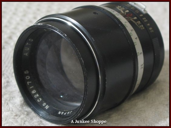 FOCAL F135mm K Type Connection 1:2.8 Camera Lens Used Picture Photography  IMG 641 http://ajunkeeshoppe.blogspot.com/