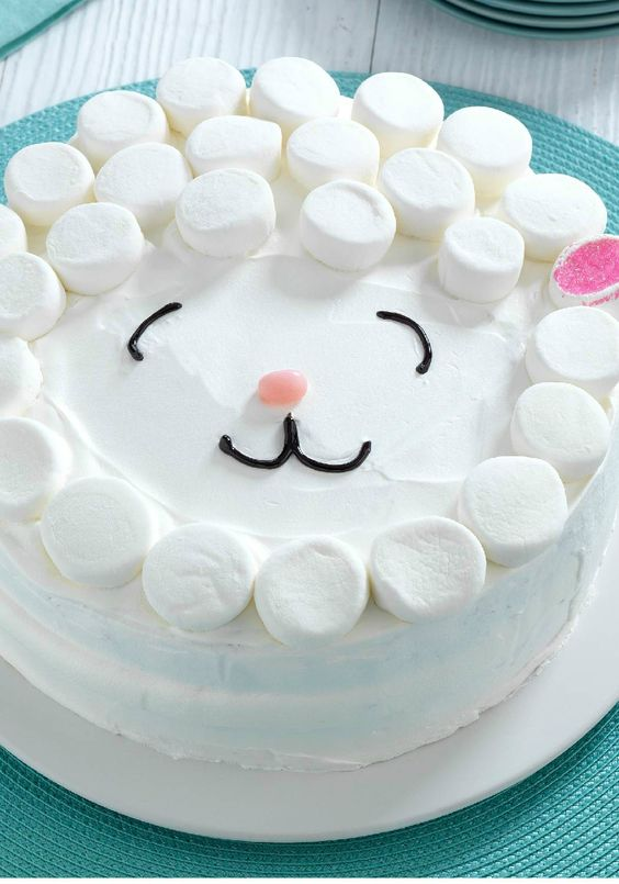 Easy Lamb Cake – No need for a special cake pan for our Easy Lamb Cake! The adorable cake is as easy as it is delicious and soon to be the centerpiece of your Easter dessert table.: