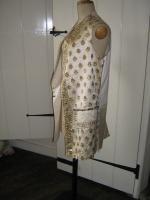 Rare 18th Century gold printed wedding waistcoat
