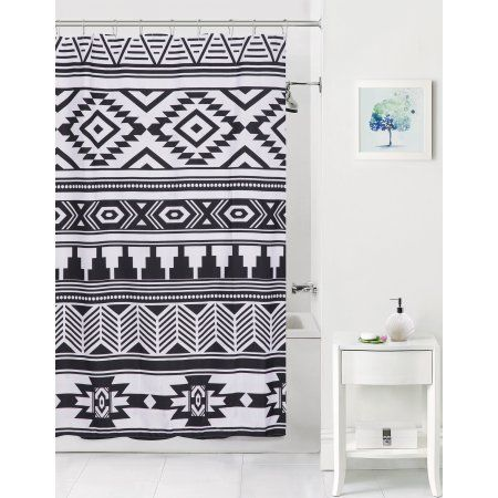 Home Fabric Shower Curtains Black Curtains Shower Curtains Walmart