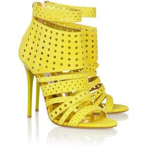 Jimmy Choo Malika perforated suede sandals $498 NET-A-PORTER.COM