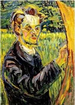Ernst Ludwig Kirchner. Retrato del pintor Heckel, ca. 1907.