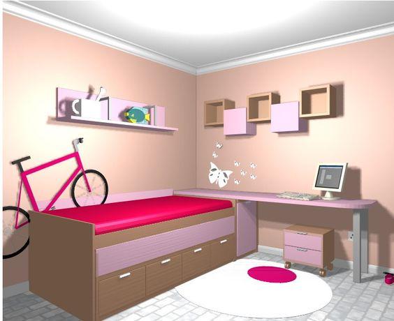 Dormitorio juvenil2 m hogar y decoraci n pinterest blog - Dormitorios juveniles ninas ...