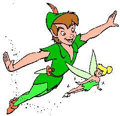 Peter Pan and Tinkerbell | peter pan