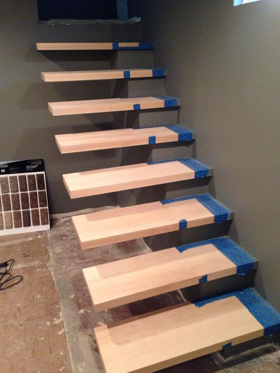 How to build floating stairs handy father architecture Floating stairs