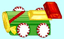 Candy race car. Fun prize for pinewood derby.
