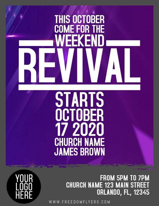 Church Revival Template Event Flyer Templates Flyer Template Template Design
