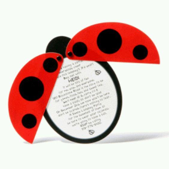 Ladybug invite Lets Party Pinterest Ladybug Diy baby and Lady