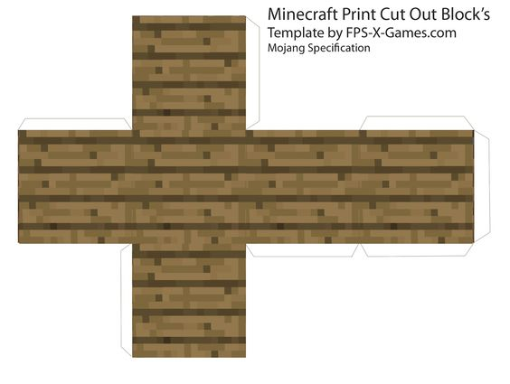 minecraft cut out templates - papercraft blog and wood planks on pinterest