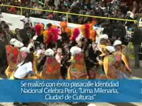 """Se realizó con éxito pasacalle """"Lima Milenaria, Ciudad de Culturas"""""""