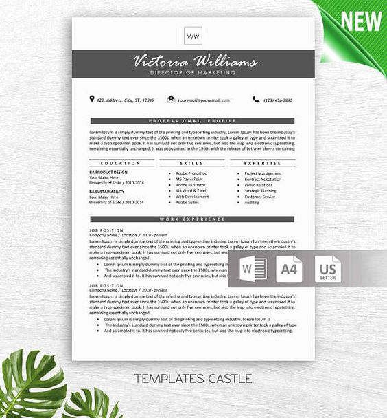 Modern Resume Template with Photo Professional Creative CV - modern resume template